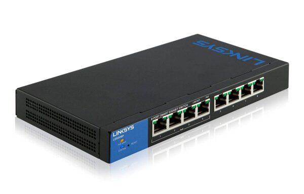 LINKSYS LGS308P 8X GIGABIT POE+ SMART SWITCH